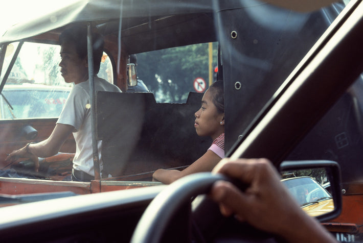 Man and Woman in Traffic, Jakarta
