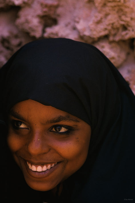 Young Woman with Black Headpiece 2, Lamu, Kenya