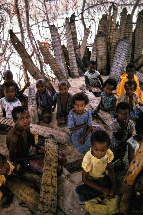 Children in Class, Koran Wooden Boards, Somalia