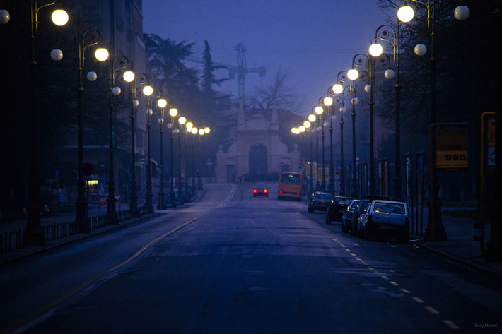 Street with Lights at Night, Vicenza