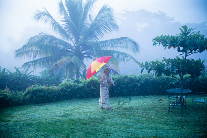 Woman, Umbrella, Mist, Jamaica