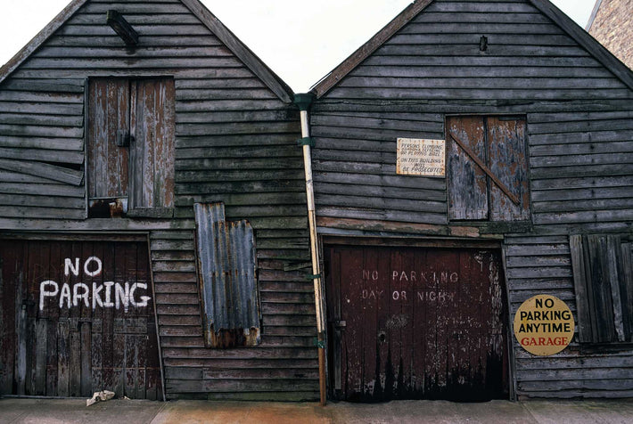 Two Buildings with No Parking Signs, Australia