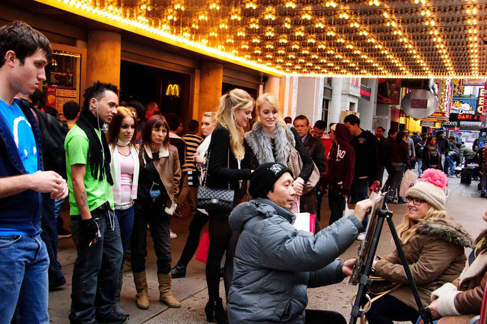 Having Portrait Done, NYC