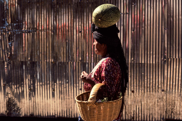 Woman with Melon on Her Head, Oaxaca