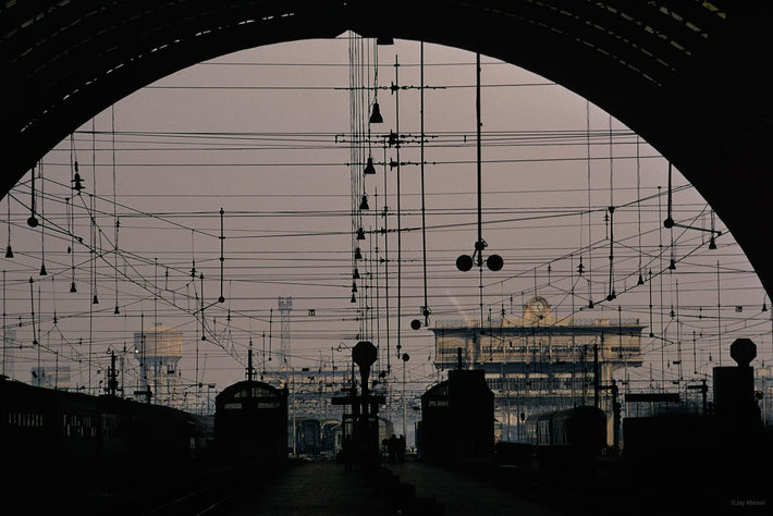 Train Station, Wires and Arch, Milan