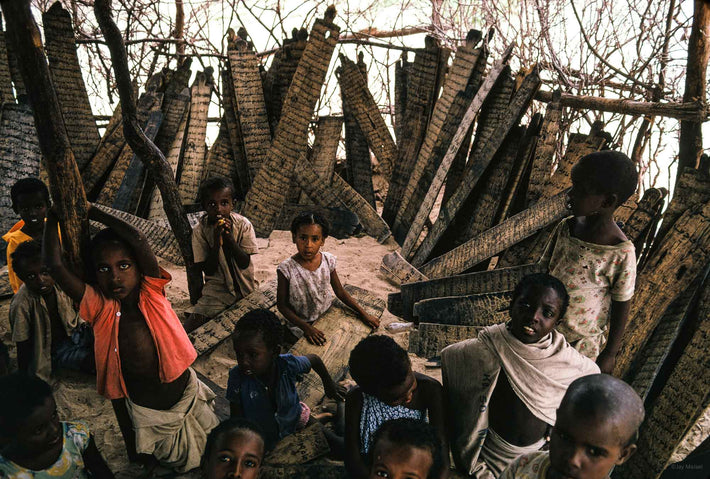 Class with Children, Wooden Koran Boards, Somalia