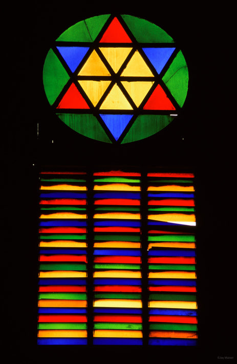 Stained Glass Window at Railroad Station, Spain
