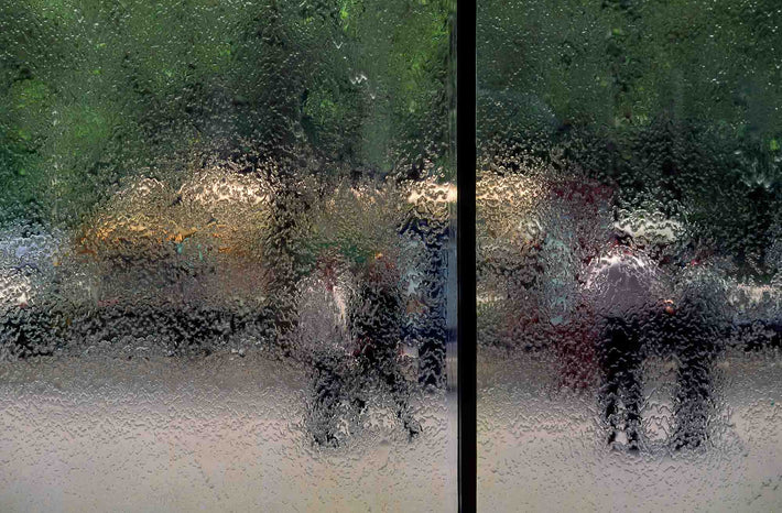 People Seen Through Wet Window, Australia