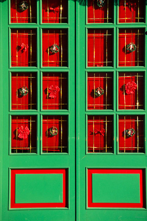 Green and Red Doors, Burano