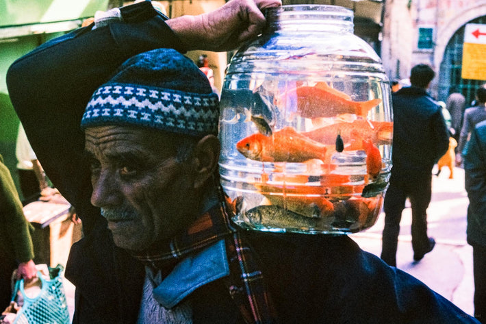 Man with Fishbowl, Jerusalem
