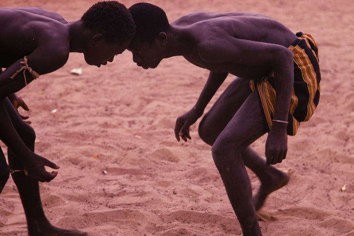 Senegalese Lutte Wrestling, Two Men Head to Head, Senegal