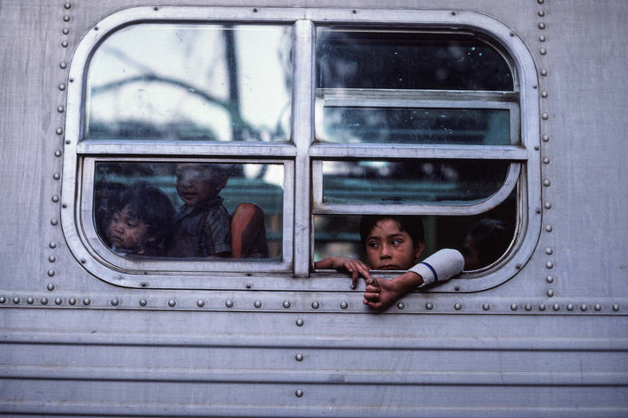 People in Train, Kid with Arms Out, Oaxaca