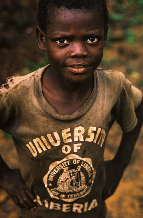 Boy in University of Liberia Shirt, Liberia