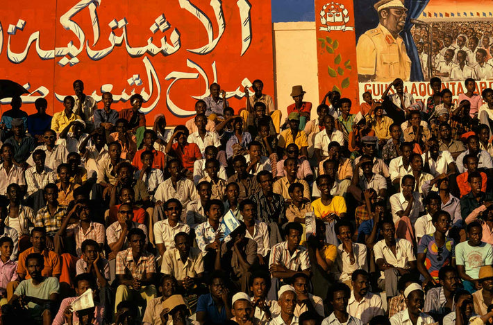 Crowd of Men in Stands, Somalia