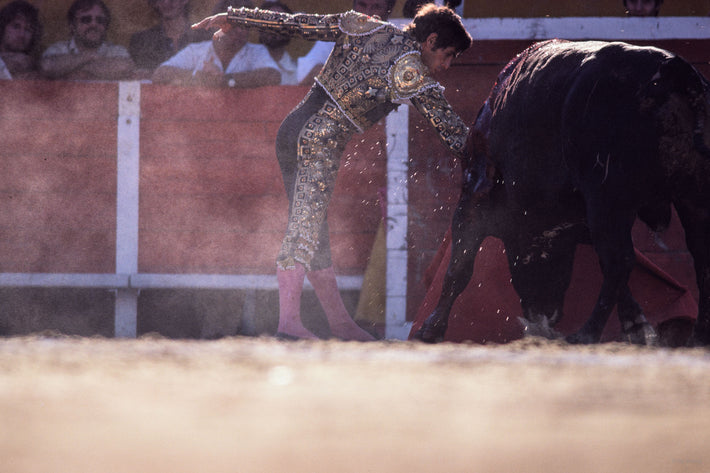 Side View of Matador with Dust, Arles