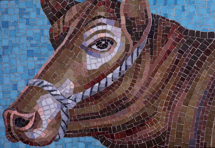 Tile Mosaic of Cow, Ireland