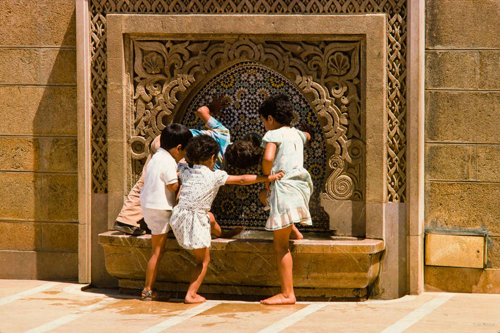 Three Children at Fountain, Marrakech