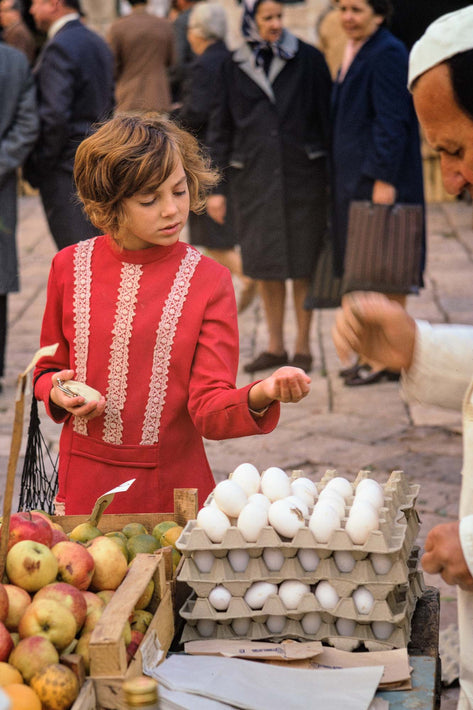 Market, Young Girl in Red, Dubrovnik