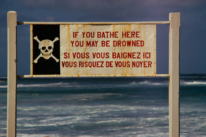 If You Bathe Here You May Be Drowned, Mauritius