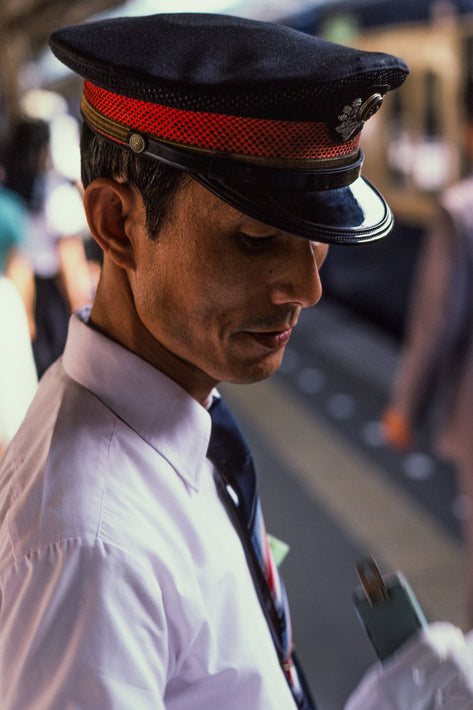 Station Agent, Cap with Red Band, Kamakura