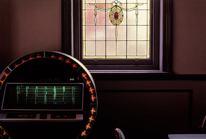 Jukebox and Stained Glass Window, Australia