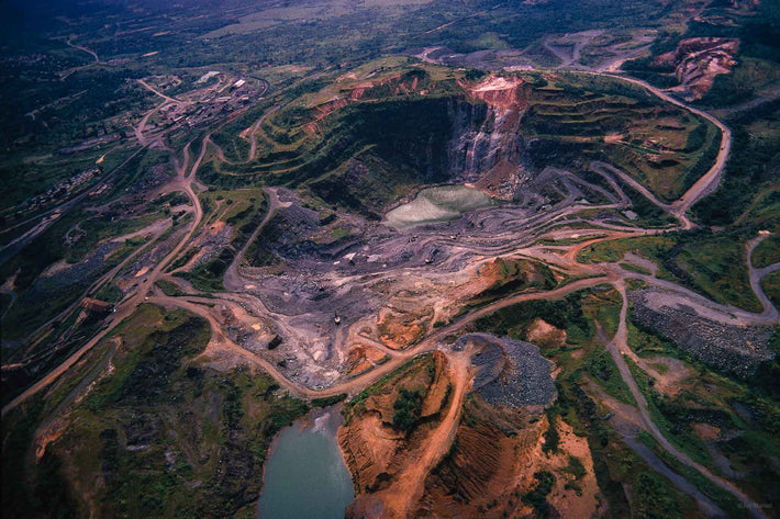 Aerial of Open Mine, Liberia