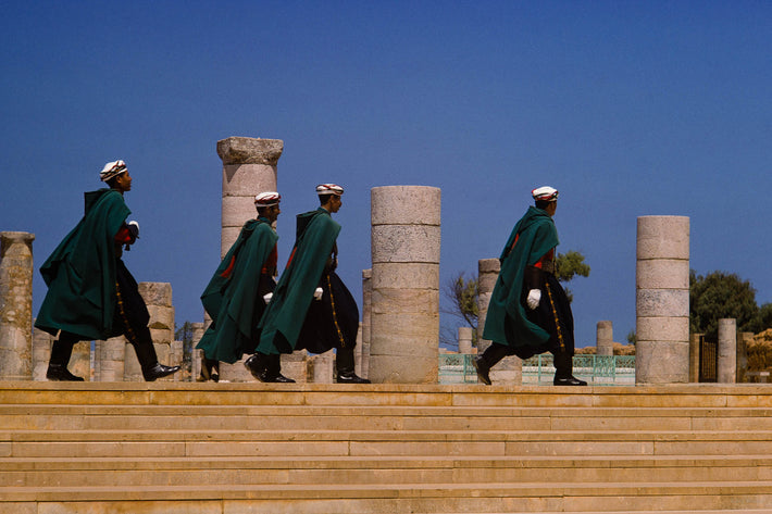 Four Uniformed Men in Rabat, Morocco