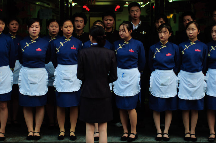 Boss with Lineup of Waitresses, Shanghai