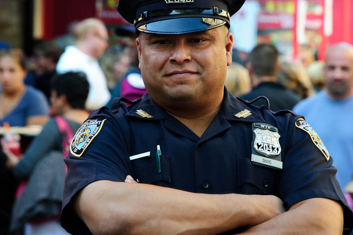 Cop with Arms Folded, NYC