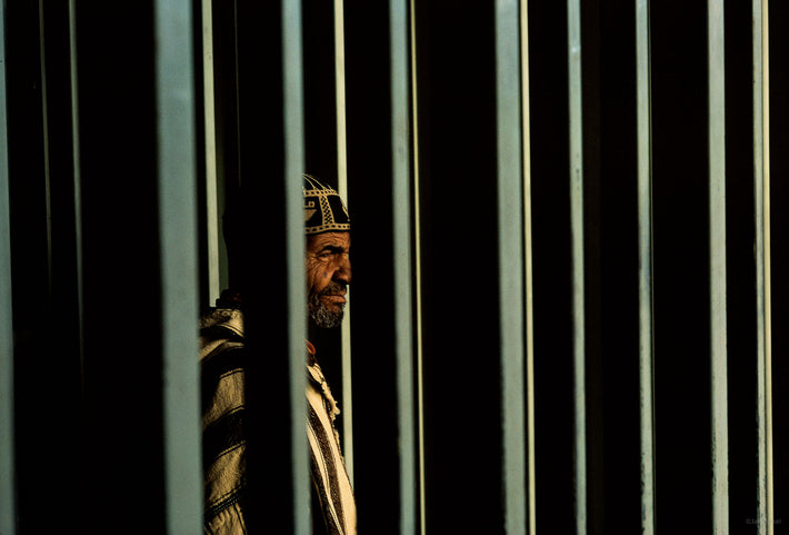 Man through Vertical Posts, Marrakech