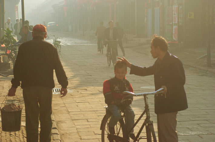 Man Stroking Child's Head, Pingyao