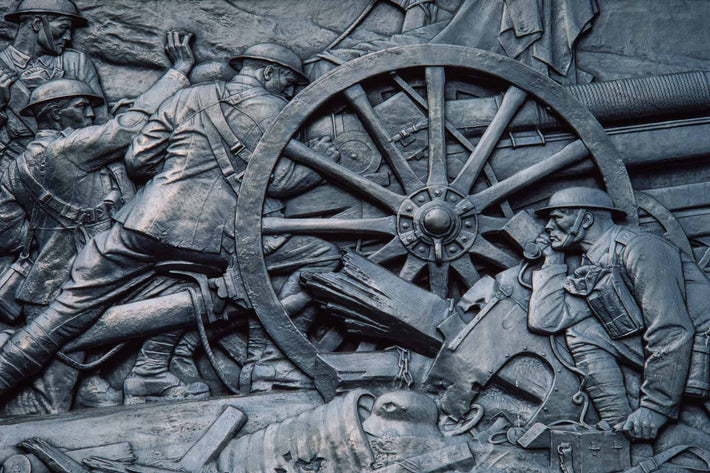 War Memorial, Soldiers and Wheel, London