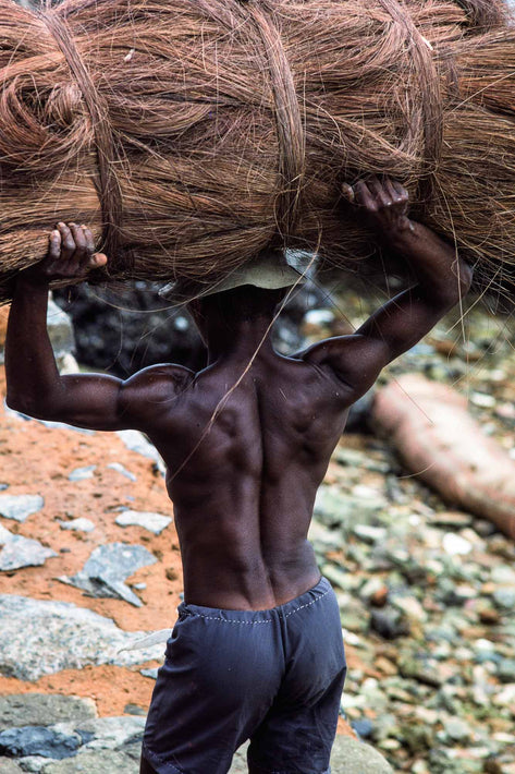 Back of Man Carrying Heavy Load, Bahia