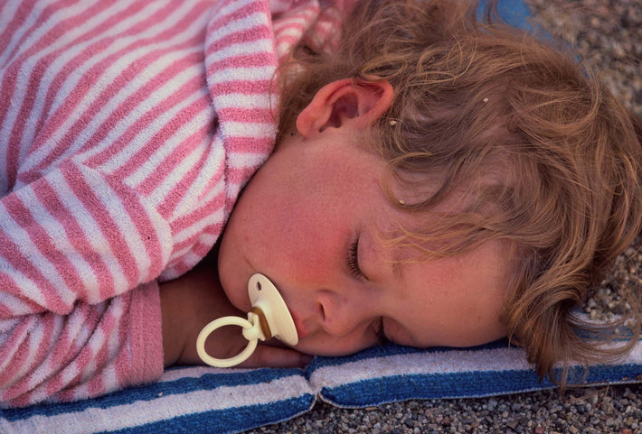 Close Head of Child Asleep