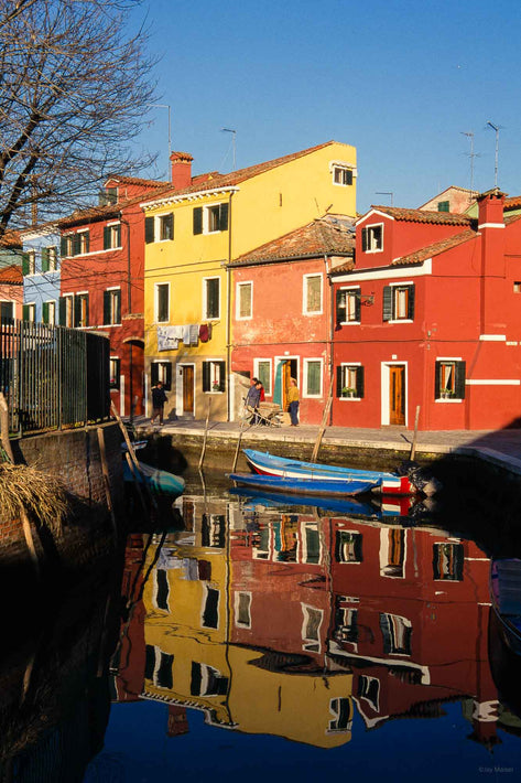 Multicolored Buildings, Smooth Reflections, Burano