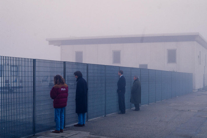 People at Fence in Fog, Milan