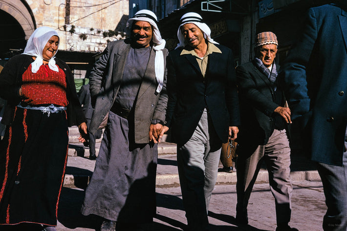 Three Arabic men and One Woman, Jerusalem