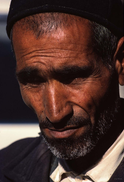Close-up of Man's Tanned Face, Iran