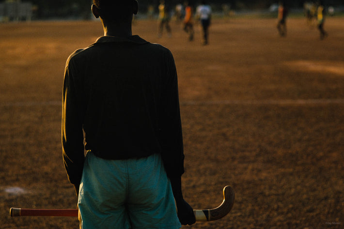 Back of Man with Field Hockey Stick, Ghana