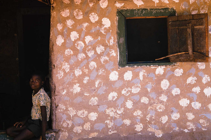 House with Young Boy, Liberia