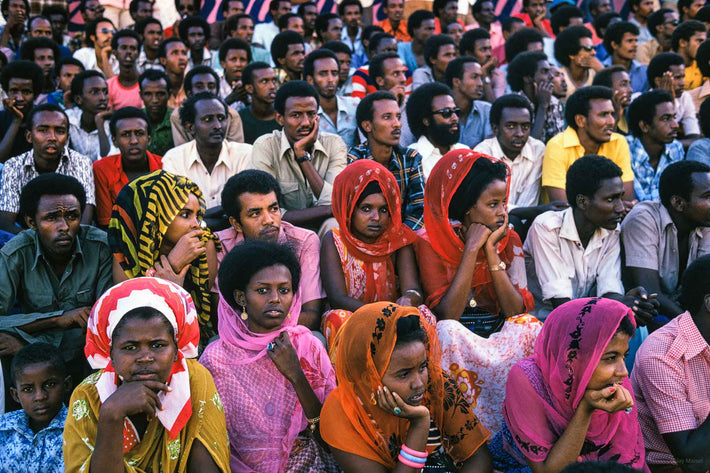 Crowd at Soccer Game, Men and Women, Somalia