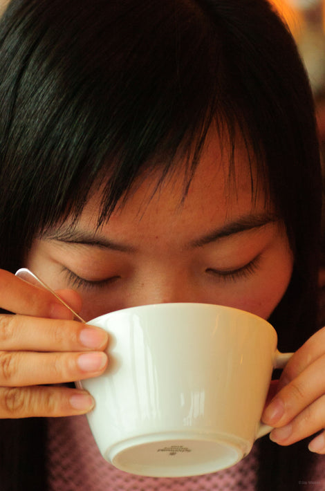 Woman Drinking from Cup, Shanghai
