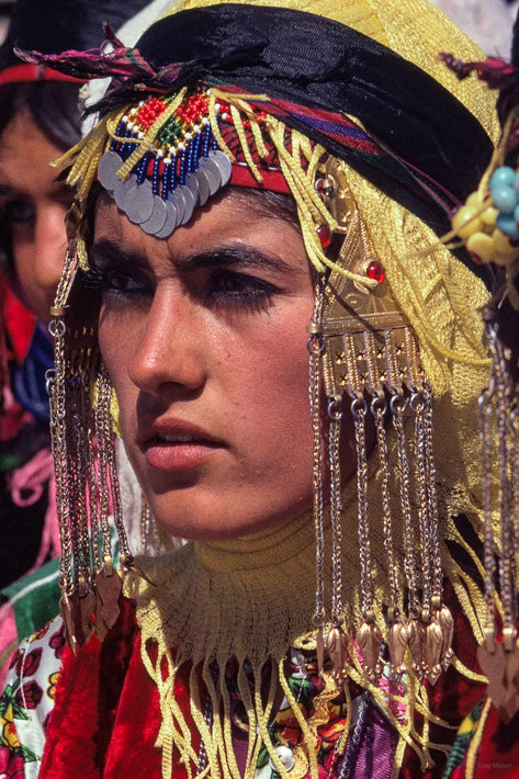 Close-up Face of Young Girl in Costume, Iran