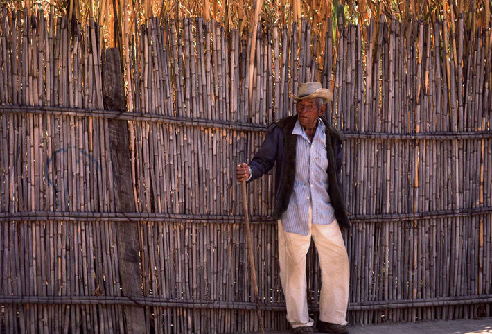 Man Against Fence, Oaxaca