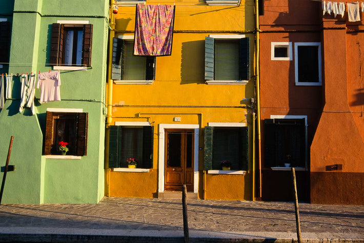 Green, Ochre, Sienna Buildings, Miscellaneous Laundry, Burano