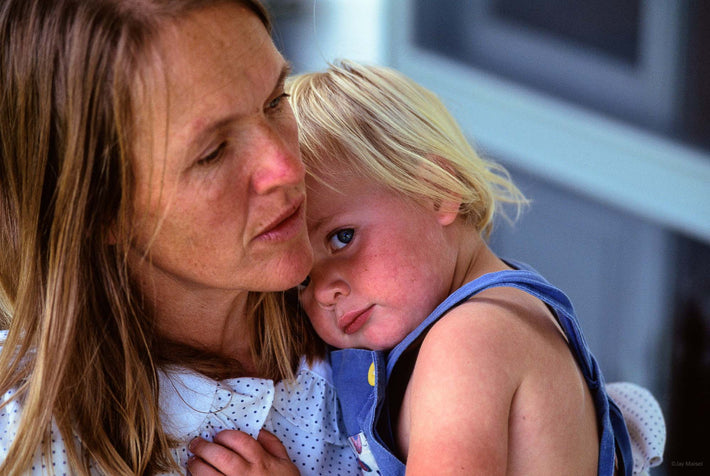 Mother with Blonde Child, Australia