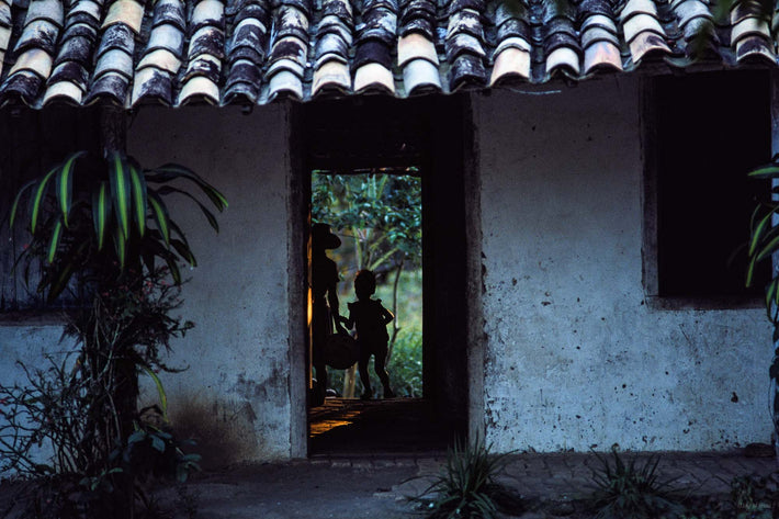 Silhouetted People in Doorway, Bahia
