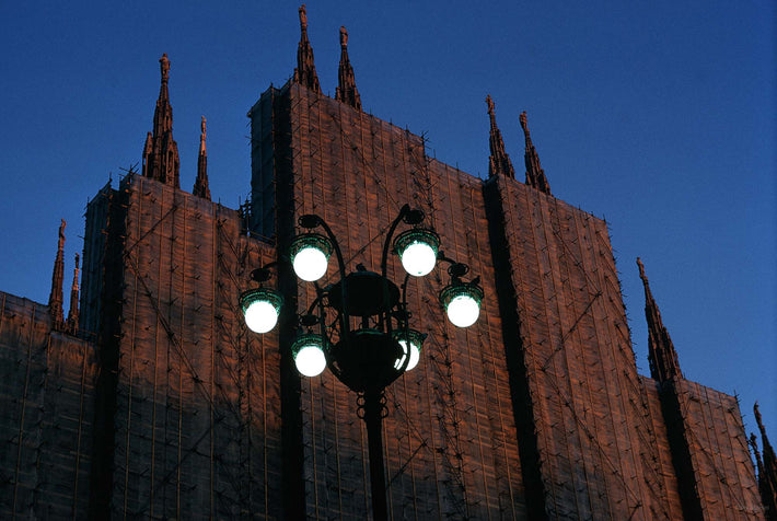 Duomo, Covering with Lights in Front, Milan