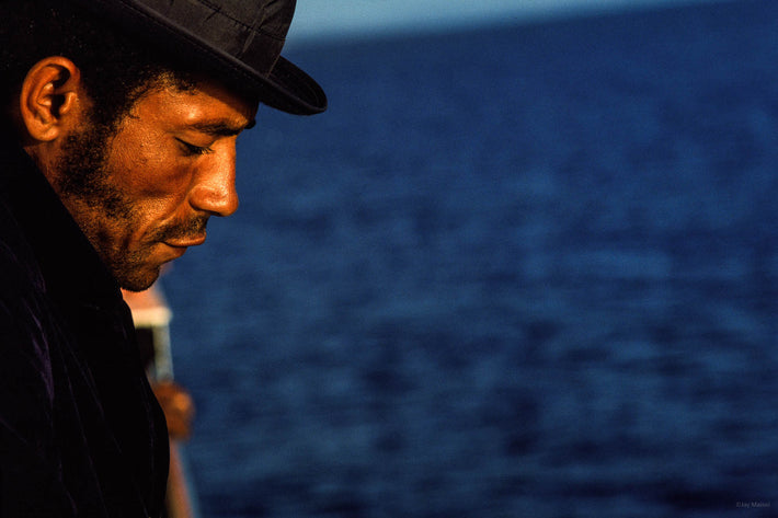 Profile of Man with Hat, Against Water, Bahia