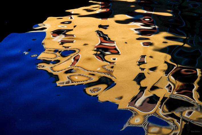 Abstract Reflection, Blue, Yellow, Red, Burano